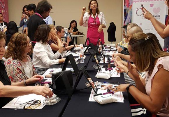 O 5º. Congresso Brasileiro Todos Juntos Contra o Câncer mostrou como funciona uma oficina de automaquiagem do DBCV